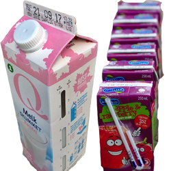 juice boxes and cartons